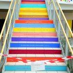 Treppe in den 2. Stock
