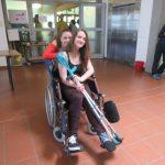 Ein ausgeborgeter Rollstuhl