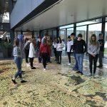 Schüler beim Arbeiten am Satellitenbild