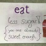 Poster zum Thema Zucker, Lebensmittel und Abhängigkeit