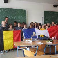 Belgisch-französisch-österreichisches Gruppenfoto
